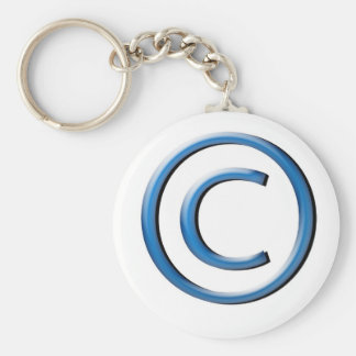 copyright basic round button keychain