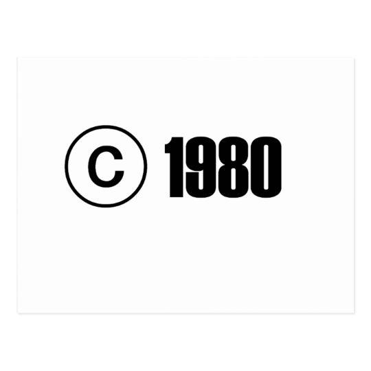 Copyright el an o 80 postales