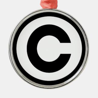 Copyright Metal Ornament