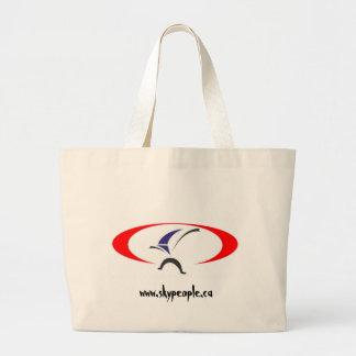 copyright splogo, www.skypeople.ca large tote bag
