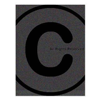 Copyright su materia #2 tarjeta postal
