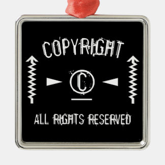 Copyright Symbol All Rights Reserved With Arrows Metal Ornament