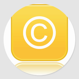 Copyright Symbol Stickers
