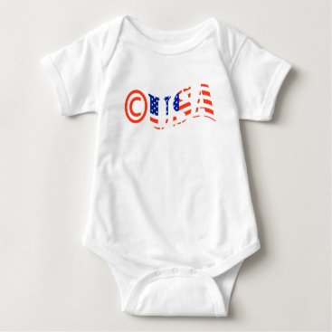 USA Themed Copyright USA Baby Bodysuit