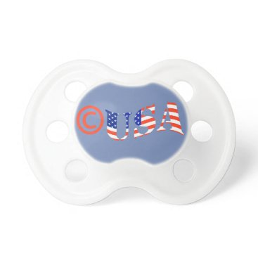USA Themed Copyright USA Baby Pacifier FOR BOY