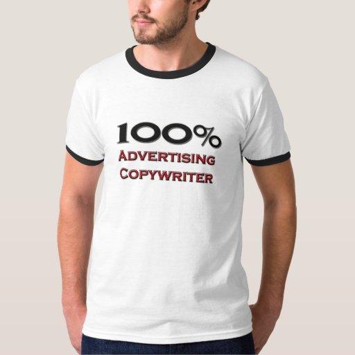 Copywriter de la publicidad del 100 por ciento poleras