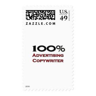 Copywriter de la publicidad del 100 por ciento sello