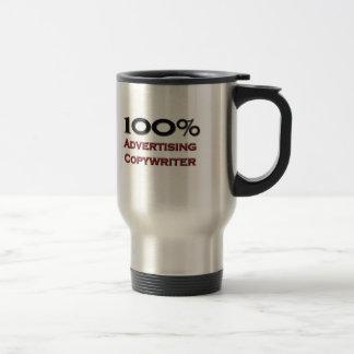Copywriter de la publicidad del 100 por ciento taza de café