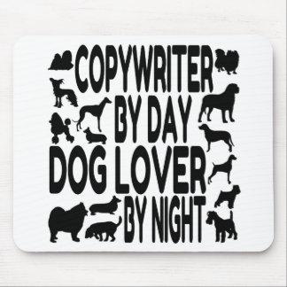 Copywriter del amante del perro alfombrillas de ratones