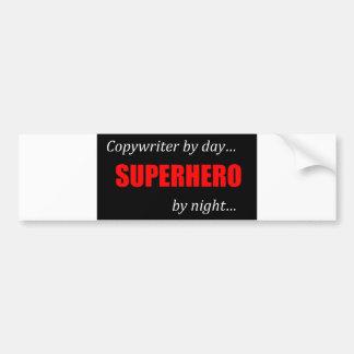 Copywriter del super héroe pegatina para auto