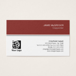 Copywriter Publishing Simple Minimal Professional Business Card