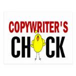 Copywriter's  Chick Postcard