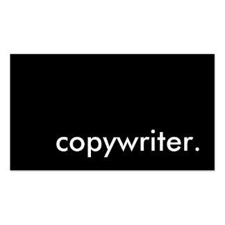 copywriter. tarjetas personales