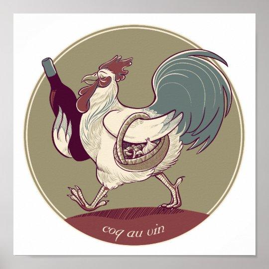 Coq au Vin Print