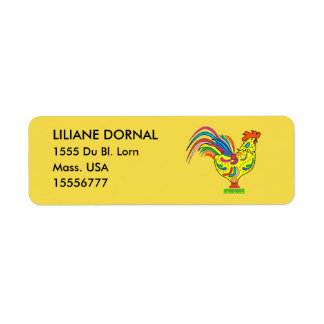 COQ CARTOON RETURN ADRESS LABELS TAG