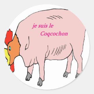 COQCOCHON 1.PNG CLASSIC ROUND STICKER