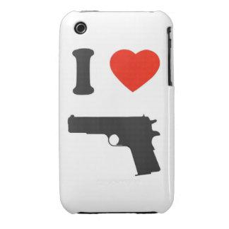"Coque iPhone 3G/3GS ""I arrolló a gun "" iPhone 3 Case-Mate Fundas"