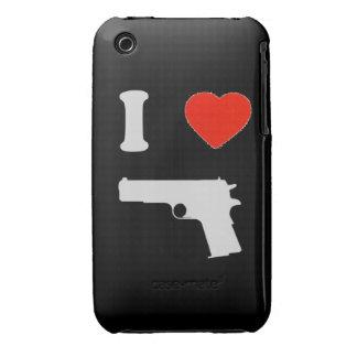 "Coque iPhone 3G/3GS ""I arrolló a gun"" (negro) iPhone 3 Protector"