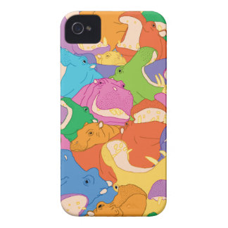 Coque iPhone 4 Hippopotames Heureuses iPhone 4 Cover