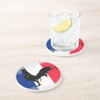 Coquelet drapeau drink coaster