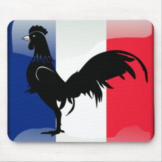 Coquelet drapeau mouse pad