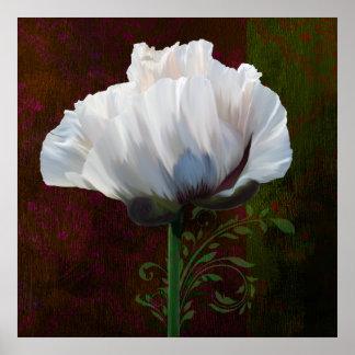 Coquelicot En Rouge white poppy print