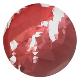 Coquelicot Red Abstract Low Polygon Background Plate