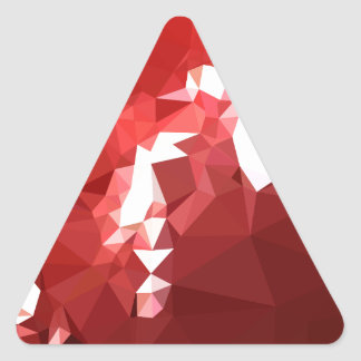 Coquelicot Red Abstract Low Polygon Background Triangle Sticker