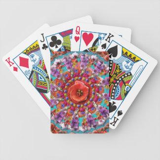 Coqueta del jardín baraja cartas de poker