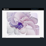 """Coquette Acer Chromebook Skin<br><div class=""""desc"""">Acer Chromebook (11.6&quot;) custom skin design from &quot;Coquette, &quot; an Apophysis fractal by Susan Wallace. Copyright &#169; 2011, Susan Wallace. Delicate petals in shades of sheer purple, violet and lavender spiral outward in this abstract flower design. High quality image resolution with glossy finish. Laminated vinyl; easy to apply and peel...</div>"""