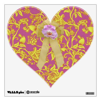 Coquette Orchid Heart Wall Sticker