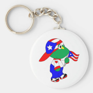 Coqui Puerto Rico Pride Keychain