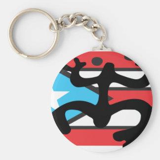 Coqui taíno on flag of Puerto Rico Keychain
