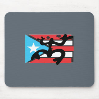 Coqui taíno on flag of Puerto Rico Mouse Pad
