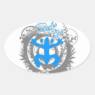 Coqui Taino Puerto Rico Oval Sticker