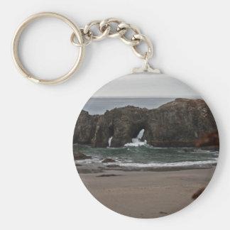 Coquille Point Arches, Oregon Basic Round Button Keychain