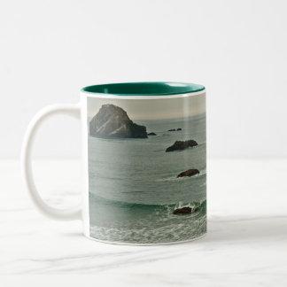 Coquille Point, Bandon, Oregon Two-Tone Coffee Mug