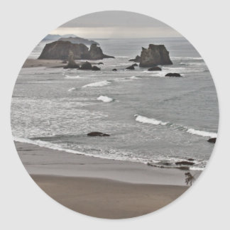 Coquille Point, Oregon Classic Round Sticker