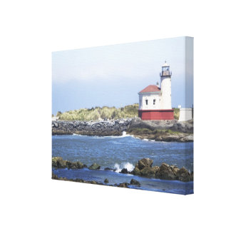 Coquille River Lighthouse Gallery Wrapped Canvas