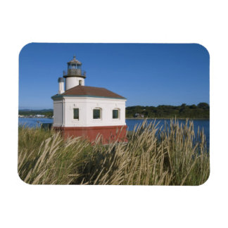 Coquille River lighthouse, Oregon, USA Rectangular Photo Magnet
