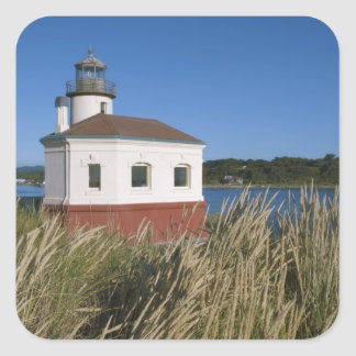 Coquille River lighthouse, Oregon, USA Square Sticker