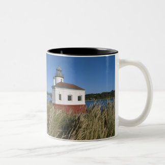 Coquille River lighthouse, Oregon, USA Two-Tone Coffee Mug