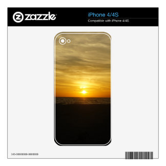 Coquina Beach Sunset Decals For The iPhone 4S
