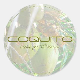 Coquito Classic Round Sticker