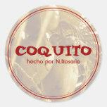 Coquito Pegatina Redonda