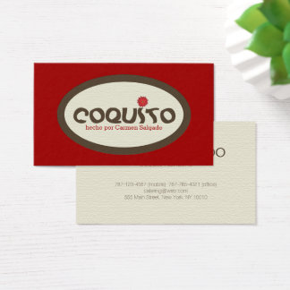 Coquito Promotion Business Card