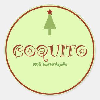 Coquito Puertorriqueno Classic Round Sticker