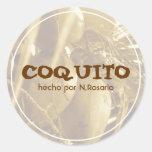 Coquito Puertorriqueño Etiqueta Redonda