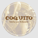 Coquito Puertorriqueño Pegatina Redonda
