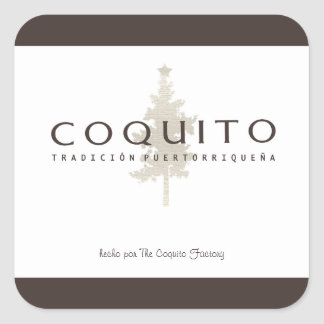 Coquito Tradicion Puertorriquena Square Sticker